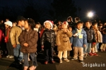 【さいたま上尾点火祭】ツリー点灯を楽しみに待つみどり幼稚園園児たち
