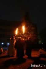 【さいたま上尾点火祭】ツリー点灯の瞬間