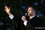 【駒込ツリー点火祭】宣教師・教員のブライアン・バード先生による祝祷